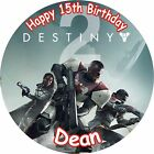 "DESTINY 2 ROUND 7.5"" CAKE TOPPER ICING OR RICEPAPER"