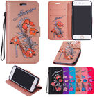 Hot Luxury Leather Magnetic Card Slot Wallet Stand Case Cover For Samsung Iphone