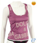 Dolce & Gabbana Gold Silk Top or Pink Branded Top BNWT
