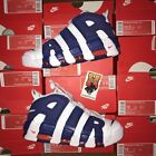 NIKE AIR MORE UPTEMPO '96 NY Knicks White Blue Orange 921948 101 Size: 7.5-14