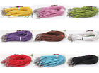 Wholesale 50/100pcs Leather Braid Rope Hemp Cord For Necklace Lobster Clasp 46cm