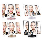 Tri-Fold 21 LED Vanity Mirror Touch Screen Makeup Table Mirror 2X 3X Magnifying