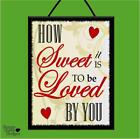 """MARVIN GAYE """"HOW SWEET IT IS"""" MUSIC*LYRICS*WOODEN POSTER PLAQUE/SHABBY CHIC SIGN"""