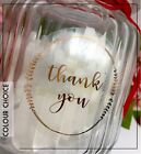 Thank You foil transparent or white gloss stickers Gold, Silver, Rose Gold gloss