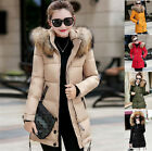 New Winter Women Jacket Down Jacket Padded Coat Ladies Slim Long Hooded Parka  +