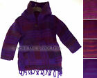 8 - 10 years PURPLES Baggy Kids HOODED Festival JUMPER GIRLS Boys HIPPY ETHNIC