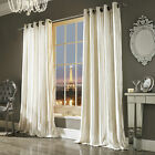 """Pair of Iliana Oyster Eyelet Lined Curtains 66""""x54""""  by Kylie Minogue Bedding"""