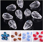 New DIY 10pcs 18x12mm Rondelle Faceted Crystal Glass Teardrop Loose Spacer Beads $1.99 USD