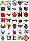 Iron On Patch Motif Applique Badge Embroidered 13 Card Skull Knot Heart Apple