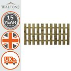 Wooden Garden Fence Fencing Picket Panel Flat Top Pressure Treated Fsc 3ft 4ft