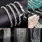 Lots Of Wholesale 925 Sterling Silver Rope Chain Twist Necklace Wedding Jewelry