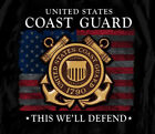 United States Coast Guard USCG Anchor Flag Seal This We'll Defend Shirt