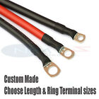 110 Amp Car Battery Power Earth Cable Choose Colour Length Terminal Hole Sizes