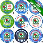 Blackburn Rovers Personalised Round Icing Sheet Cake Topper - in 3 Sizes