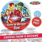 a. Marvels Avengers Personalised Round Cake Topper in 3 sizes including 7.5""