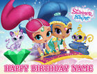 Shimmer and Shine personalised edible icing cake topper
