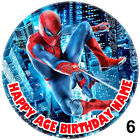 Spiderman Round Birthday Cake Topper