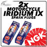 2x NGK Iridium IX Spark Plugs for HONDA 125cc CB92 Ø10mm Plug 59->64 #7544