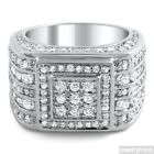 5 Carat CZ Mens Superbowl Ring Sterling Silver