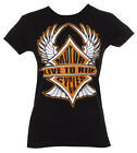 Womens Live to Ride Motorcycles Black T-Shirt