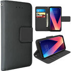 For LG V30 PU Leather Wallet Flip Protective Case Cover with Card Slots & Stand