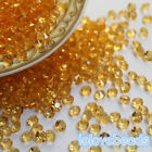 4.5mm Gold Yellow 1/3CT Acrylic Diamond Confetti Wedding Party Table Scatters