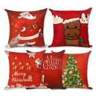 Внешний вид - Christmas Cotton Xmas Pillow Cushion Cover Throw Case Sofa Home Car Decor Linen