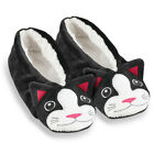 Womens Fuzzy Animal Ballet Slippers, by Collections Etc
