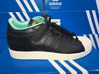 Adidas Pro Shell LUX Mid Velcro Mens Shoes Black Mint Green Vapor D74406 NEW