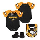 Pittsburgh Penguins NHL Infant Creeper, Bib & Bootie $27.99 USD on eBay