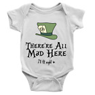 The Mad Hatters Babygrow Funny Joke Mad Family New Born Present Gift Body Suit
