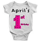Personalised Name 1st Birthday Girl Babygrow First Celebration Gift 1 Year Old