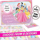 Disney's Moana square icing cake topper with personalisation 4 designs | 3 sizes