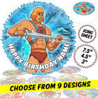 He-Man Cake Topper, Circle, Personalised, Edible Icing Print