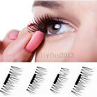 8 PCS/4 PCS 3D Magnetic False Eyelashes Natural Eye Lashes Extension Handmade DD