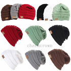 Womens Fashion Knit Slouchy Beanie CC Oversized Thick Cap Unisex Slouch Hat Cozy