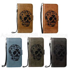 PU Leather Embossed Skull Flip Stand Wallet Card Case For iPhone 6/6S/7 Plus