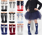 9PCS Kid Baby Socks Toddler Girl Cable Knit Knee-High Long Stockings Cotton