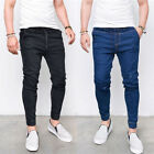 USA Men Skinny Slim Fit Jeans Denim Style Straight Fit Trousers Casual Pants ZR