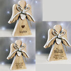 Personalised Engraved Rustic Wooden Angel Decoration Christmas Memorial Gift