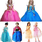 Princess Elsa Anna Frozen Dressup Costume Dress Crown Ball Gown Toddler Outfits
