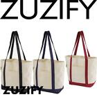 ZUZIFY Organic Cotton Canvas Boat Tote Bag. OU1091