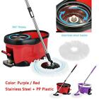 Hands-free Stainless Steel 360°Rolling Spin Mop & Bucket Set Foot Pedal M8G3
