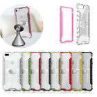 Magnetic Super Clear Car Stand PC+TPU Shockproof Case Cover For Iphone Samsung