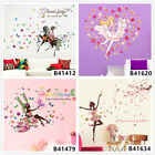 Flowers Fairy Girl Home Room Decor Removable Wall Stickers Decals Wandbilde