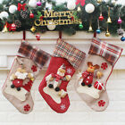 Personalised Luxury Embroidered Xmas Stocking Sack 3D Santa Deluxe Christmas New