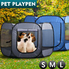 8 Panel Pet Dog Playpen Exercise Cage Puppy Enclosure Fence Play Pen Tent Large