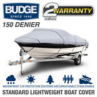 Budge 150 Denier Waterproof Boat Cover | Fits V-Hull Fishing Boats | 6 Sizes