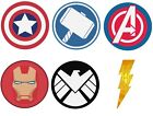 Avengers Fabric Look  Badges Rectangle Edible Icing Print Cake Topper