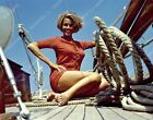 sitting on deck Honor Blackman goes for a boat ride 8b20-16957 $12.99 USD